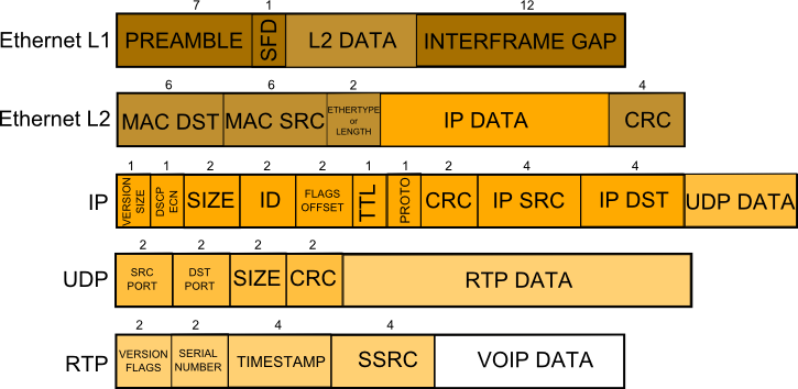 VOIP packet structure